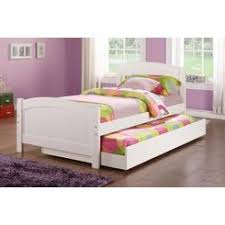 Frolax Aversa White Twin Bed with Pull Out