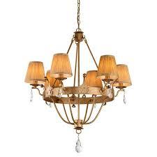windsor 6 light chandelier with shades elstead lighting