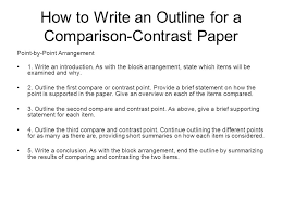 How To Write A Block Compare And Contrast Essay
