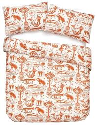 the beautiful retro style pet sounds wallpaper design by mini moderns in the gorgeous harvest orange