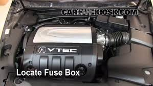 replace a fuse 2005 2008 acura rl 2008 acura rl 3 5l v6 locate engine fuse box and remove cover