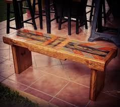 diy painted pallet bench via 1001pallets com