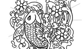 Small Picture Koi Fish Tattoo Coloring Pages Free Coloring Pages For Kids
