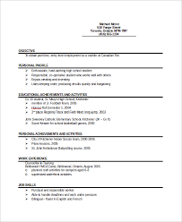 9 Sample Entry Level Resumes Sample Templates