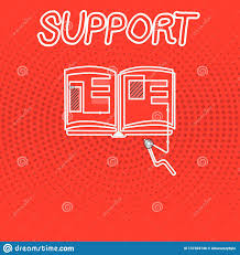 Writing Note Showing Support Business Photo Showcasing Give