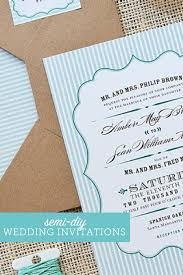 Diy Wedding Invitation Designs Wedding Invitations On A Budget Semi Diy Wedding Invites