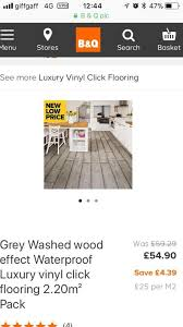 6 packs of grey washed wood effect luxury vinyl flooring
