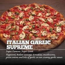 round table pizza italian garlic supreme