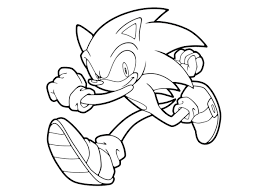 Sonic Runs Coloring Pages For Kids