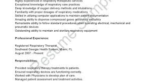 Respiratory Therapist Student Resume Sample Respiratory Therapist Resume Great Sample Resume Resume