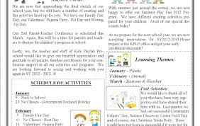 February Newsletter Template Parent Newsletter Template Gotostudy Info