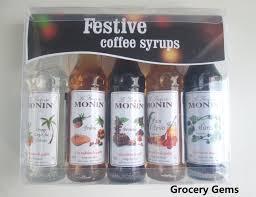 gift idea costa coffee monin syrup set
