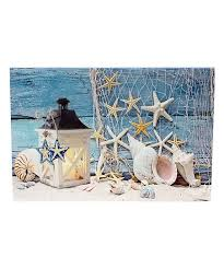 shells candle lighted canvas wall art on coastal life canvas wall art with beachcombers coastal life shells candle lighted canvas wall art