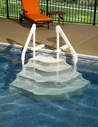 Swimming Pool Above Ground Pool Ladder And Pool Steps From White