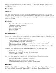 Culinary Resume Template