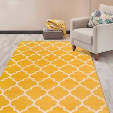 rug contemporary modern moroccan trellis area rug 7 10 x 10 yellow