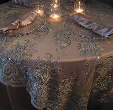 white lace round tablecloth elegant table overlays tl003b silver round glitter embroidery sequin