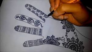 Pen Mehndi Design Arabic Floral Henna Easy Mehndi Design On Paper How To Draw Simple Henna Flowers