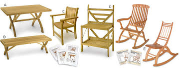 Folding Furniture Plans by Lee Valley - Woodworking