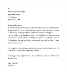 Pharmacy Cover Letter Examples Sample Pharmacist Letter Template 7 Free Documents