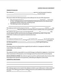 Sublease Agreement Samples Sublease Agreement Templates Free Download Edit And Sign