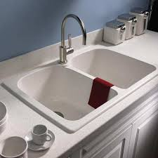 double bowl solid surface sink