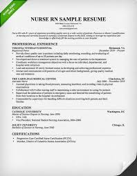Nurse Resume Objective Professional Rn Nurse Resume Example Medical