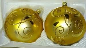 Christbaumschmuck Inge Glas 2er Set Gold Weihnachtsdeko