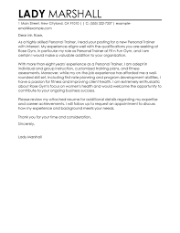 Best Personal Trainer Cover Letter Examples Livecareer