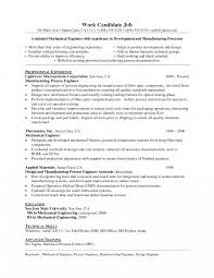 Manufacturing Engineer Resume Sample Production 1 Year Experience