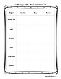 weekly syllabus template editable lesson plan template