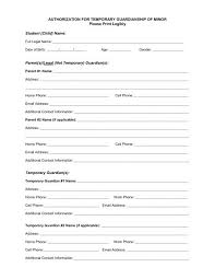 Notarized Letter Of Guardianship Authorization For Temporary Guardianship Of Minor