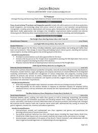 Tv Production Resume Examples Tv Producer Resume Resume Sample