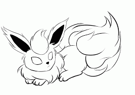 Small Picture Pokemon Flareon Coloring Pages Kids Coloring