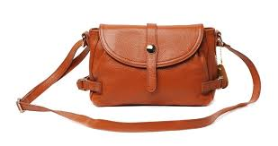 brown leather messenger bag for women