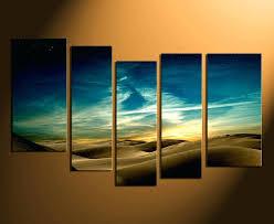 desert wall art 5 piece huge pictures home decor landscape multi panel canvas green wall art