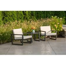 aluminum patio furniture. Plain Aluminum Vero 3 Piece Sunbrella Conversation Set With Cushions By Elan Furniture Throughout Aluminum Patio T