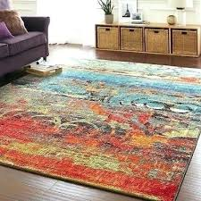 bright multi colored area rugs unique rug color faded design bold teal blue red orange carpet home library ideas