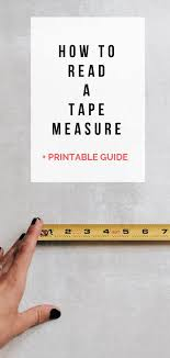 Standard Tape Measurement Chart How To Read A Tape Measure Pdf Printable Decor Hint