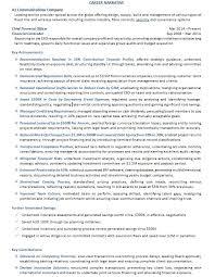 CFO Resume Example p2