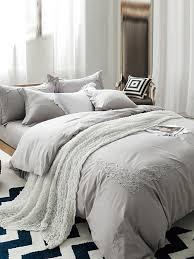 light grey super soft 4 pcs bedding set