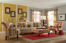 Yellow And Red Living Room Paula Deen By Craftmaster Paula Deen Upholstered Accents Skirted