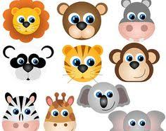 zoo animals together clipart. Modren Clipart Animal Faces Clipart Clip Art Zoo Jungle Farm By PinkPueblo Intended Animals Together