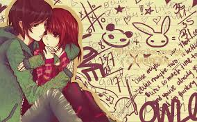 anime couple hug latest hd wallpapers free new hd