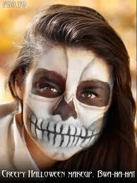 creepy skull template to add skull makeup for the day of the dead