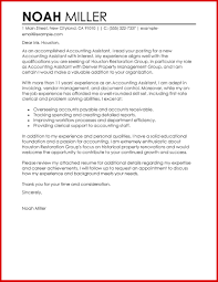 Stunning Accounting Assistant Cover Letter Gallery Resume