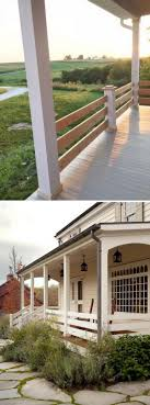 horizontal railing on the porch