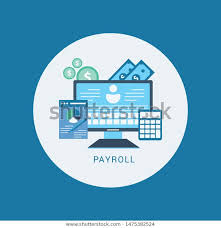 Salary Expenses Calculator Payroll Expenses Salary Calculation Concept Flat Stock