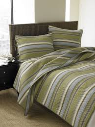 olive green bedding 3 pce olive striped quilt set