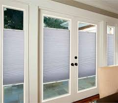 french door blackout cellular shade